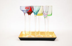 Small Apertif Glasses Stock Photography