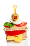Small appetizer sandwich Royalty Free Stock Image