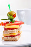 Small appetizer sandwich Stock Photos