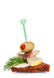 Small appetizer sandwich Royalty Free Stock Photo