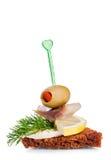 Small appetizer sandwich Royalty Free Stock Photo