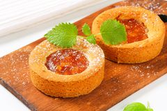 Small apple filled cakes stock photography