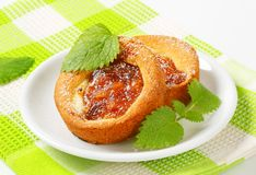 Small apple filled cakes Stock Images