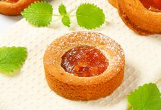 Small apple filled cakes Royalty Free Stock Images