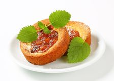 Small apple filled cakes Stock Photo