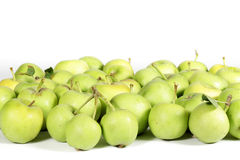Small apples isolated on white background Royalty Free Stock Images