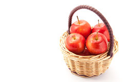 Small apples that was placed in a basket Royalty Free Stock Photography