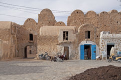 Small arab village in Tunisia Royalty Free Stock Images