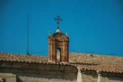 Small arch made of bricks over roof at Avila stock photo