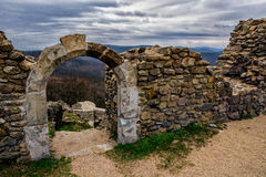 Small arch at the ruins of a Castle Royalty Free Stock Photography