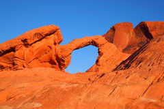 Small Arch at the Valley of Fire Royalty Free Stock Image
