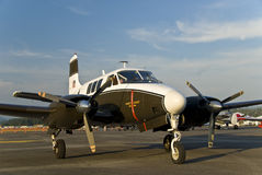Small army airplane. On runway in Washington royalty free stock photography