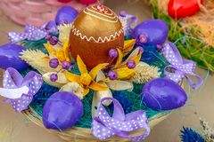 Small arrangement for Easter stock photo