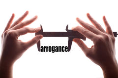 Small arrogance concept Stock Images