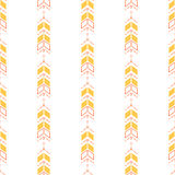 Small arrow line seamless pattern. Tiny thin arrows in dashed line rows tileable white background Stock Illustration