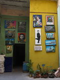 Small Art Gallery In Havana Cuba Stock Images