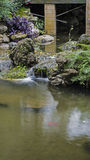 Small artificial waterfall. Royalty Free Stock Images