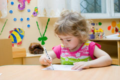 The Small artist. Royalty Free Stock Images