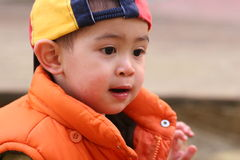 Small asian. Boy playing Royalty Free Stock Photos