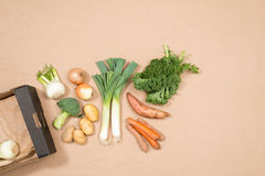Small Assortment of Fresh Vegetables with Copy Space royalty free stock photo
