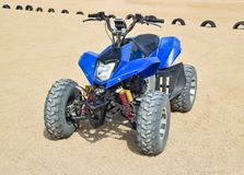 Small ATV rentals. Rental services on the beach by the sea Royalty Free Stock Photos