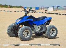 Small ATV rentals. Rental services on the beach by the sea.  Royalty Free Stock Image