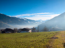 Small Austrian village in the Hochzillertal area Royalty Free Stock Images
