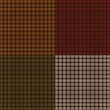 Small Autumn plaids. Background patterns royalty free illustration