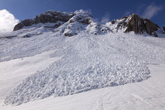 Small avalanche bottom view. royalty free stock images
