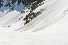 Small avalanches. Royalty Free Stock Photo