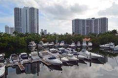 Small Aventura,Florida Marina Stock Photography