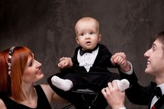 Small baby on a chair Stock Photography