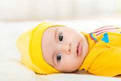 Small baby in childhood concept Stock Image
