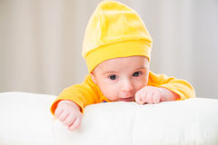 Small baby in childhood concept Stock Photos