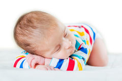 Small baby in childhood concept Royalty Free Stock Photo