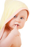 Small baby with finger in mouth Royalty Free Stock Photos