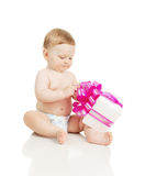 The small baby with a gift in the hands Royalty Free Stock Image