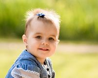 Small baby girl Royalty Free Stock Photography