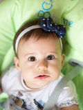 Small baby girl portrait Royalty Free Stock Image