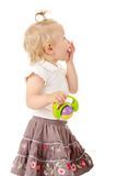 Small baby girl with a toy Royalty Free Stock Photography
