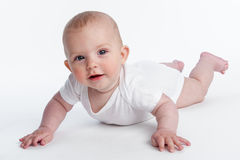 Small Baby Learning to Crawl Royalty Free Stock Photography