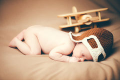 Small baby pilot Royalty Free Stock Image
