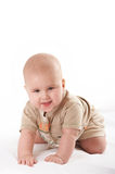 Small baby posing. Small baby crawling and smiling Stock Photo