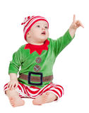 Small baby in santa suit Royalty Free Stock Images