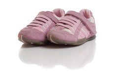 Small baby shoes Stock Photo