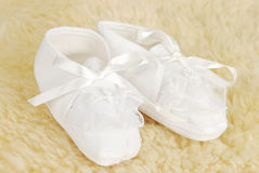 Small baby shoes Royalty Free Stock Image