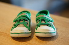 Small baby shoes Stock Photos