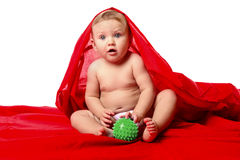 Small baby sits Royalty Free Stock Photography