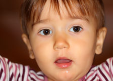 Small baby staring Royalty Free Stock Photos