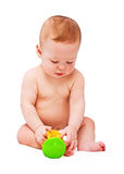 Small baby with toy Royalty Free Stock Image
